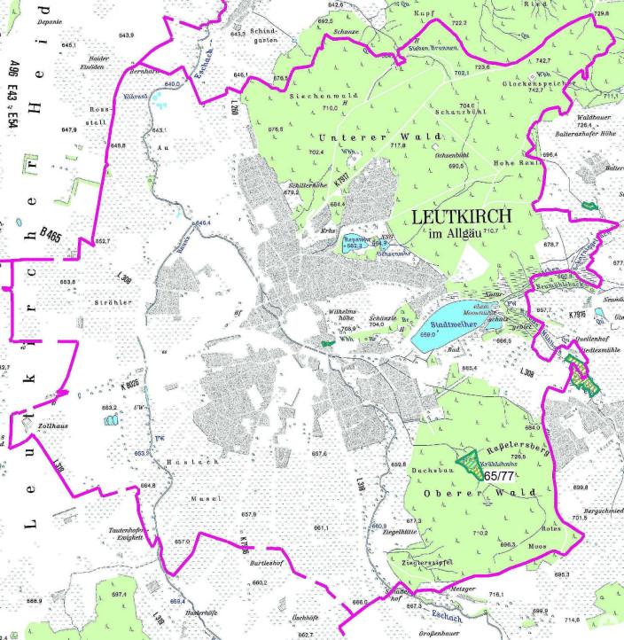 Karte Naturdenkmale Stadtgebiet