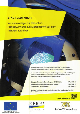 Plakat zur Versuchsanlage Phorphor-Rückgewinnung