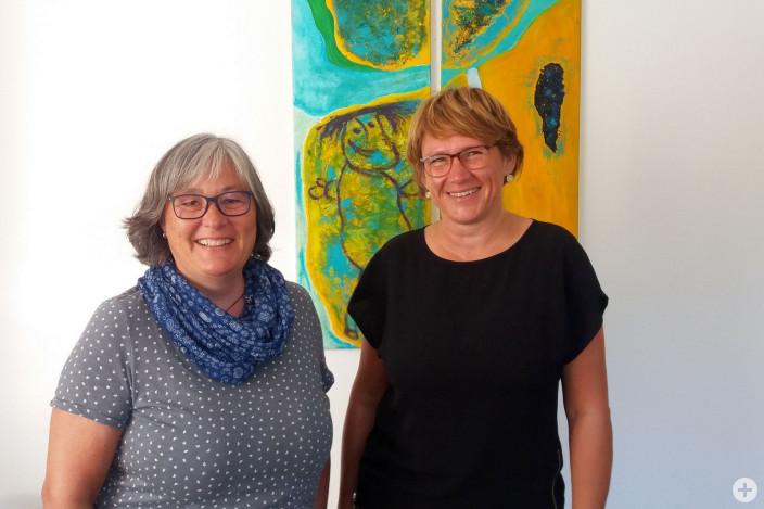 Christiane Woelk und Silvia Müller-Gohdes von der Vermittlungsstelle Kindertagespflege Region Allgäu
