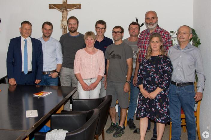 (von links) OB Hans-Jörg Henle, Manuel Graf, Gerhard Traut, Helga Einsiedler, Fridolin Kolb, Elmar Traut, Alfred Karrer, Franz Dietrich, Petra Widler, Lothar Schmid.