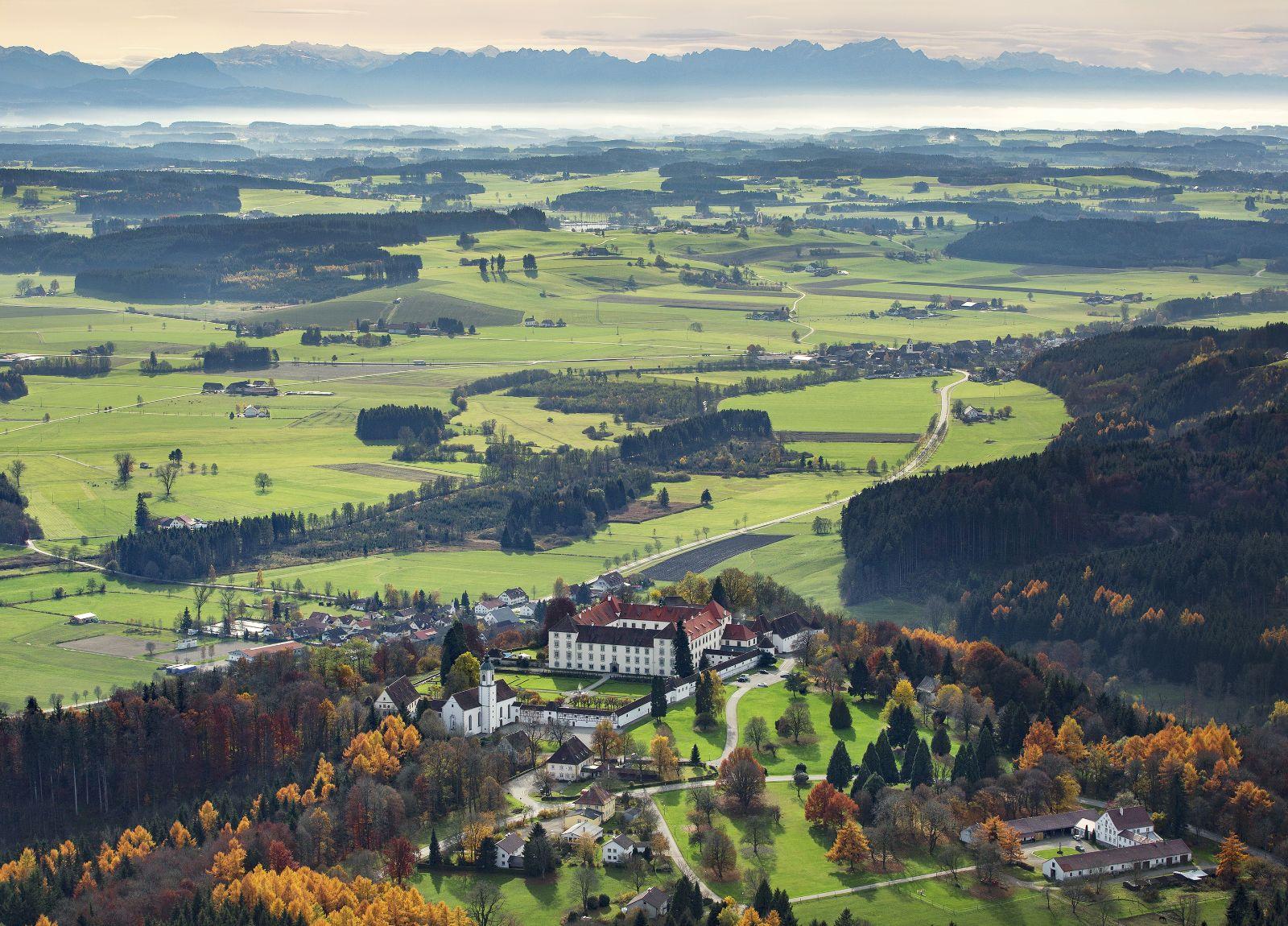 Luftaufnahme Schloss Zeil
