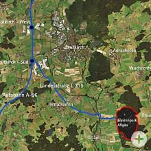 Luftbild Zufahrt Ferienpark