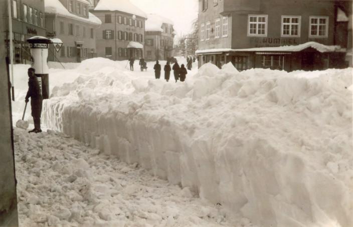 Wangener Straße im Winter 1942
