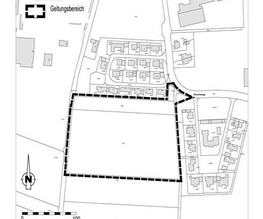 Bebauungsplan Öschweg II 1. Änderung Geltungsbereich