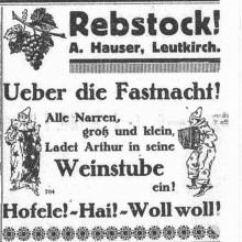 Anzeige im Allgäuer Volksfreund von 1927