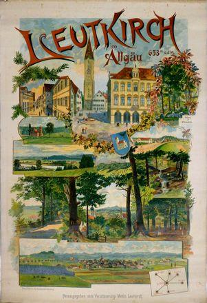 Plakat des Verschönerungsvereins von 1899