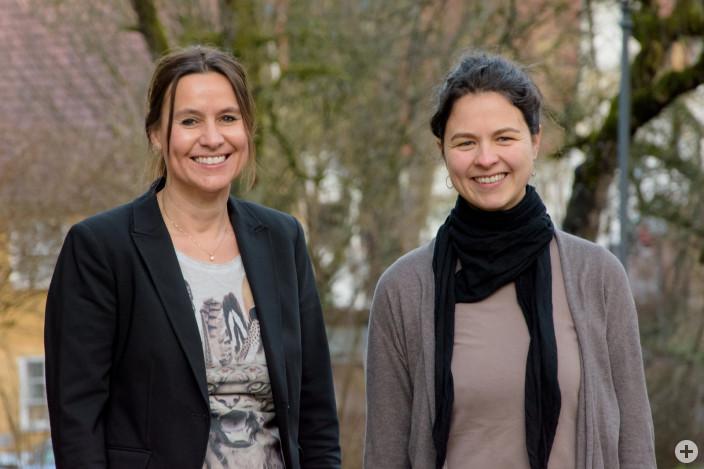Carmen Scheich, Kinder-, Jugend- und Familienbeauftragte der Stadt Leutkirch, und Maria Hönig, Koordinierungs- und Fachstelle der Stiftung St. Anna (v.l.)