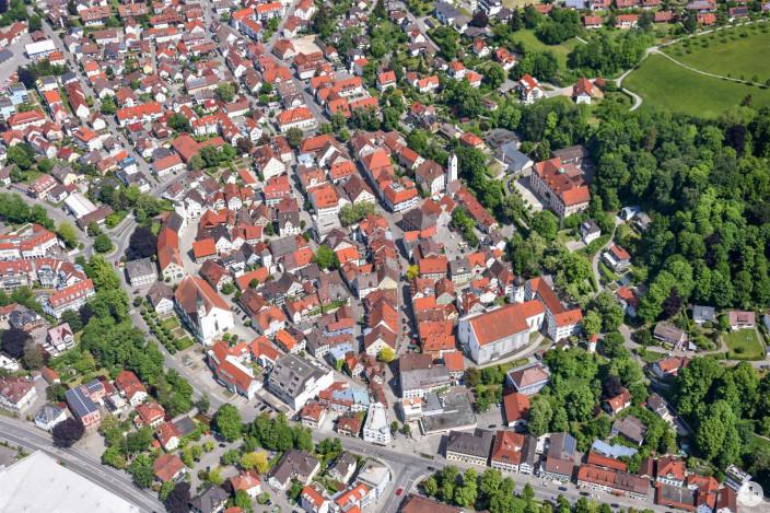 Luftbild Leutkircher Altstadt: Mit einem Innenstadtbeauftragten soll für frischen Wind gesorgt werden.