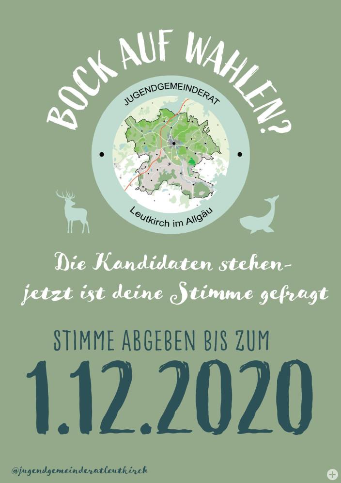 Plakat zur Jugendgemeinderatswahl 2020
