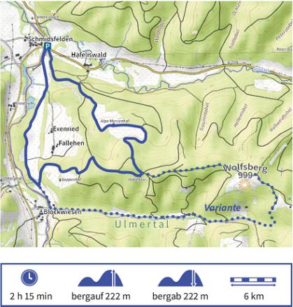 Karte Wandertour 5 der Adelegg-Karte