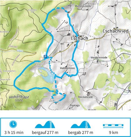Karte Wandertour 8 der Adelegg-Karte