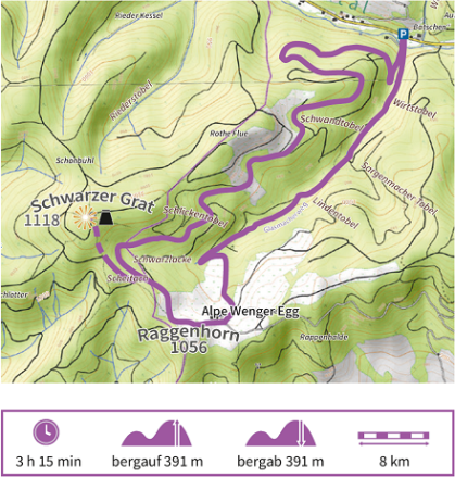 Karte Wandertour 9 der Adelegg-Karte