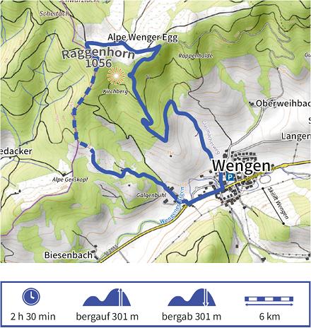 Karte Wandertour 10 der Adelegg-Karte