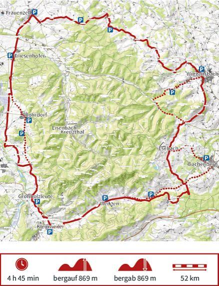 Karte Radtour C der Adelegg Karte