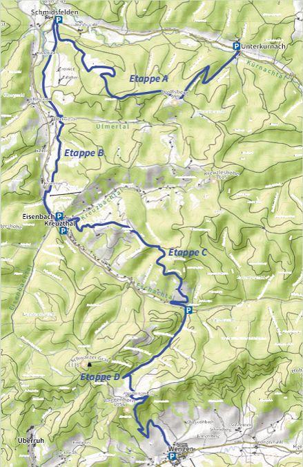 Karte Glasmacherweg der Adelegg-Karte