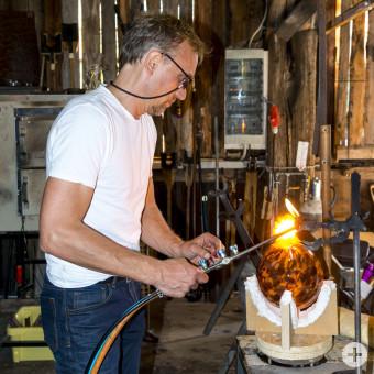 Glasproduktion in der Glashütte