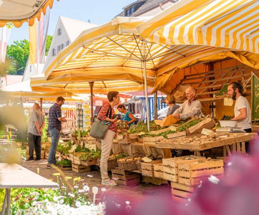 Marktreiben in Leutkirch