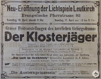 Kinoeröffnung 1921