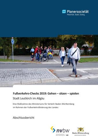 Deckblatt Abschlussbericht Fußverkehrscheck