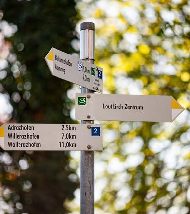 Wanderschilder in Leutkirch