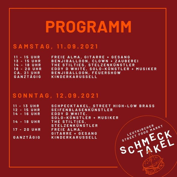Programm zum Leutkircher Street Food Markt am 11. und 12.09.2021