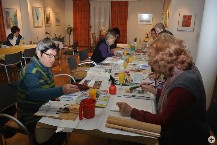Die Leutkircher Montagsmaler in Aktion