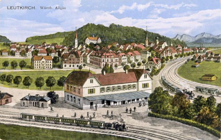 Bahnhof Leutkirch um 1912