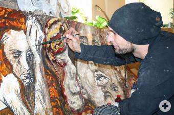 Mario Riedesser im Atelier