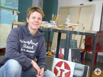 Birte Horn in ihrem Atelier
