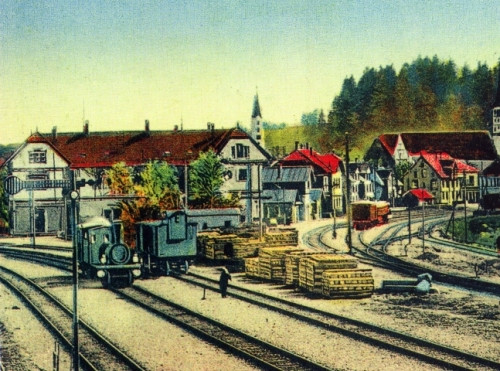 Bahnhof in einer alten Ansicht