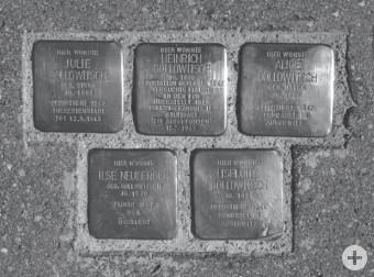 Stolpersteine für die Familie Gollowitsch