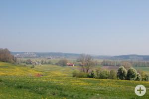 Blick vom Herlazhofer Kapf auf Leutkirch
