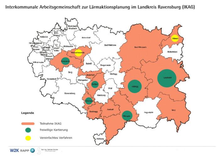 Interkommunale Arbeitsgemeinschaft  zur Lärmaktionsplanung im Landkreis Ravensburg