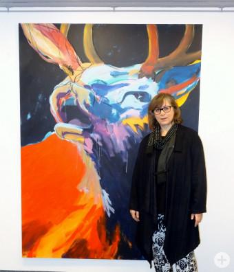 Die Künstlerin Iris Wöhr-Reinheimer