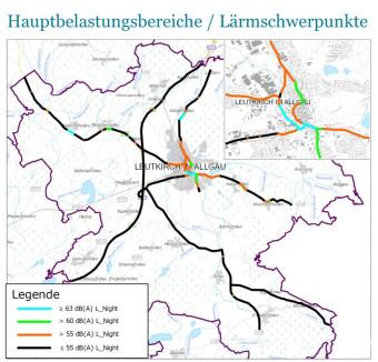 Lärmschwerpunkte / Straßenverkehr